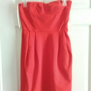 DVF Pleated Strapless Dress